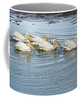 A Flotilla Of Pelicans Coffee Mug