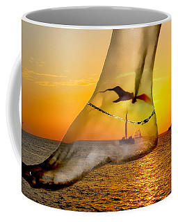 A Foot In The Sunset Coffee Mug