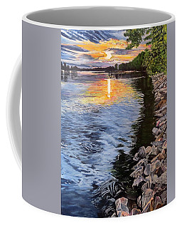 A Fraser River Sunset Coffee Mug