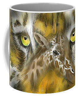 Coffee Mug featuring the digital art A Friend For Lunch by Darren Cannell