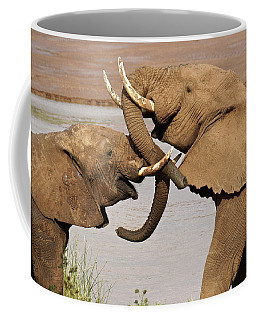 A Friendly Tussle Coffee Mug