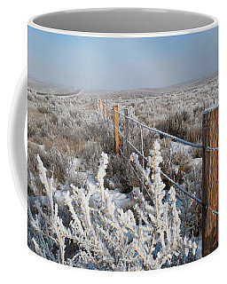 Coffee Mug featuring the photograph A Frosty And Foggy Morning On The Way To Steamboat Springs by Cascade Colors
