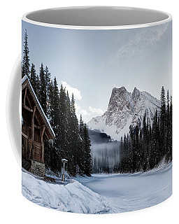 A Frozen Emerald Lake Morning Coffee Mug