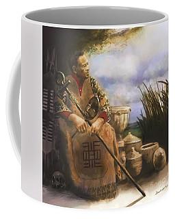 Coffee Mug featuring the digital art A Fundi's Wisdom by Dwayne Glapion