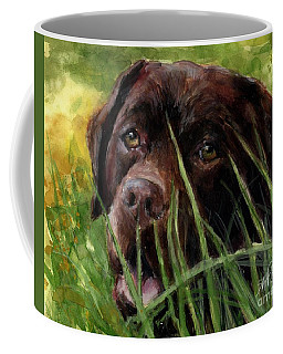 Coffee Mug featuring the painting A Gardener's Friend by Molly Poole