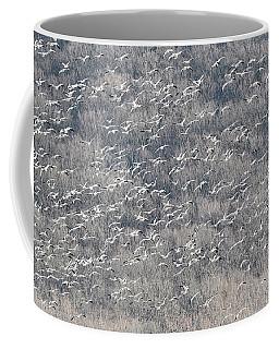 A Gathering Of Snow Geese  Coffee Mug