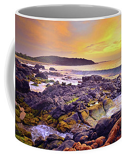 Coffee Mug featuring the photograph A Gentle Wave At Sunset by Tara Turner