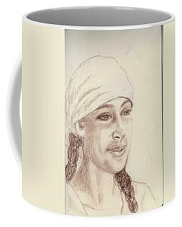 A Girl In A Scarf Coffee Mug