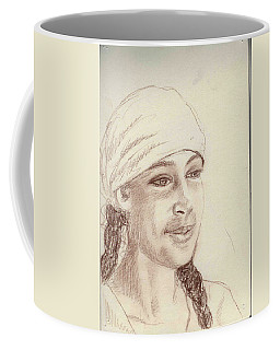A Girl In A Scarf Coffee Mug