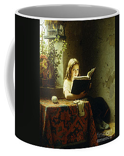 A Girl Reading Coffee Mug