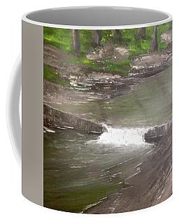 A Glimpse Of A Roadside Park Coffee Mug