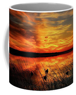 A Golden Sunrise Duck Hunt Coffee Mug