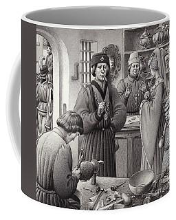 A Goldsmith's Shop In 15th Century Italy Coffee Mug