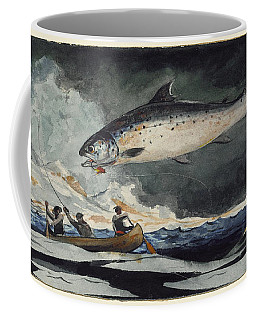 Coffee Mug featuring the painting A Good Pool. Saguenay River by Winslow Homer