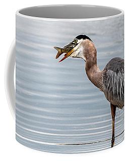 A Great Blue Heron Breakfast Coffee Mug by Tam Ryan