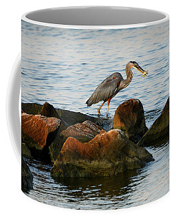 A Great Blue Heron Day Coffee Mug
