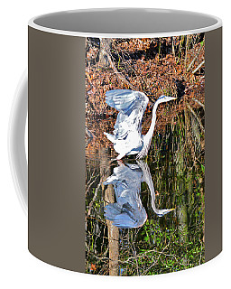 A Great Blue Launching   Coffee Mug