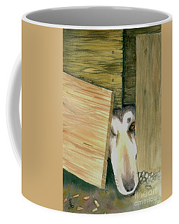 Coffee Mug featuring the painting A Great Escape  -variation 2 by Yoshiko Mishina