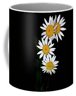 Coffee Mug featuring the digital art A Group Of Wild Daisies by Chris Flees