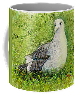 A Gull On The Grass Coffee Mug