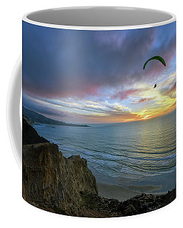 A Hang Glider And A Sunset Coffee Mug