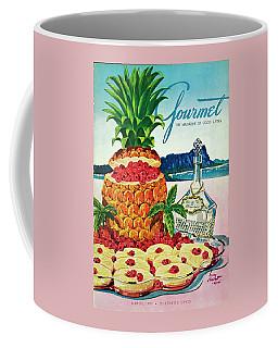 A Hawaiian Scene With Pineapple Slices Coffee Mug