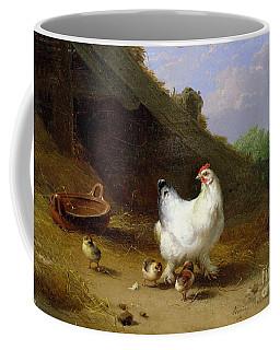 A Hen With Her Chicks Coffee Mug
