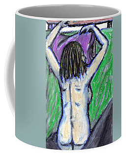 Coffee Mug featuring the pastel A Hot Night by Jean Haynes