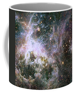 Coffee Mug featuring the photograph A Hubble Infrared View Of The Tarantula Nebula by Nasa