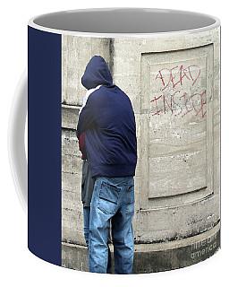 A Hug Coffee Mug by Joe Jake Pratt