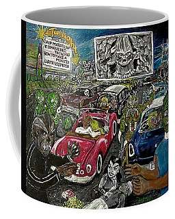 A I P Monster Movie Marathon At The Twilight Drive - In  La Porte Indiana Coffee Mug
