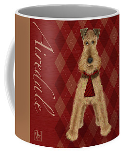 A Is  For Airedale Coffee Mug