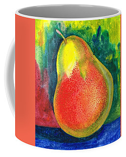 Coffee Mug featuring the painting A Juicy Pear by Val Stokes