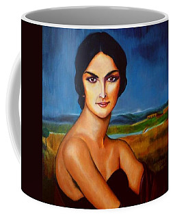 A Lady Coffee Mug by Manuel Sanchez