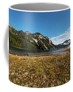 A Lake In The Mountains Coffee Mug by Sabine Edrissi