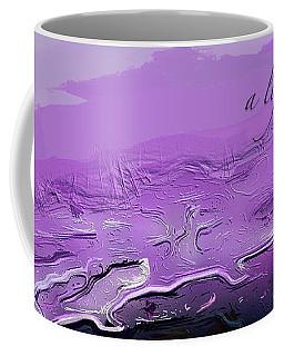 Coffee Mug featuring the digital art A Lifeless Planet Purple by ISAW Company