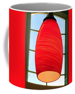 Coffee Mug featuring the photograph A Light On In Trhe Window by Rick Locke