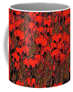 A Little Family Gathering Of Poppies Coffee Mug
