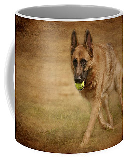 Coffee Mug featuring the photograph A Little Playtime - German Shepherd Dog by Angie Tirado