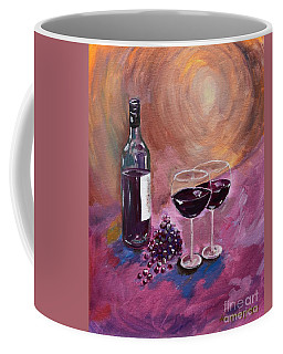 A Little Wine On My Canvas - Wine - Grapes Coffee Mug