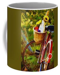 A Loaf Of Bread A Jug Of Wine And A Bike Coffee Mug