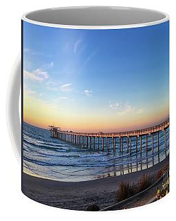 A Long Look At Scripps Pier At Sunset Coffee Mug