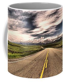 A Long Road To The Mountains Coffee Mug