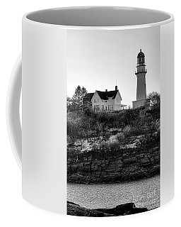 Coffee Mug featuring the photograph A Long Winter At Cape Elizabeth by Olivier Le Queinec
