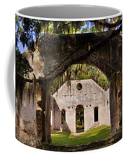 Coffee Mug featuring the photograph A Look Into The Chapel Of Ease St. Helena Island Beaufort Sc by Lisa Wooten