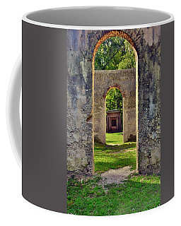 Coffee Mug featuring the photograph A Look Through Chapel Of Ease St. Helena Island Beaufort Sc by Lisa Wooten
