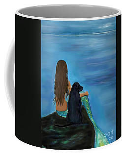 Coffee Mug featuring the painting A Loyal Buddy by Leslie Allen