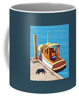 A Man, A Dog And An Old Boat Coffee Mug