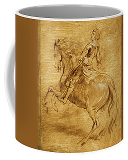Coffee Mug featuring the painting A Man Riding A Horse by Anthony van Dyck