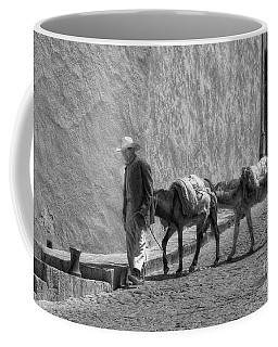 A Man With Two Burros Coffee Mug
